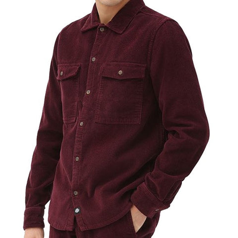 DICKIES FORT POLK SHIRT MAROON