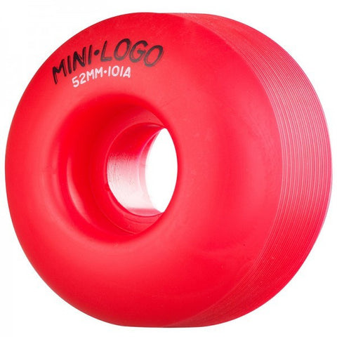 MINI LOGO C-CUT RED 101A 52MM - Skateboards Amsterdam - 1