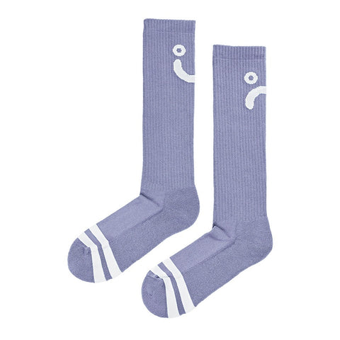 POLAR UPSIDE DOWN HAPPY SAD SOCKS LAVENDER/WHITE