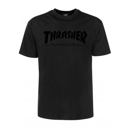 THRASHER MAGAZINE LOGO T-SHIRT BLACK ON BLACK