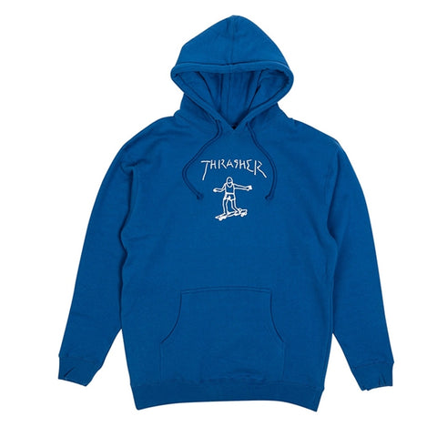 THRASHER GONZ HOODED SWEATER ROYAL