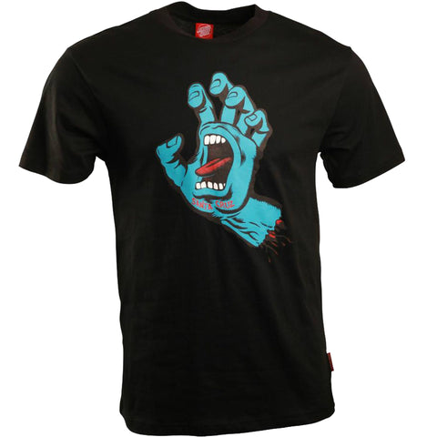 SANTA CRUZ PHILLIPS HAND T-SHIRT BLACK