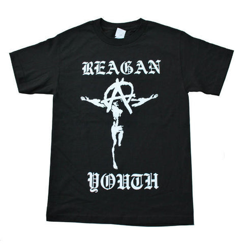 REAGAN YOUTH JESUS T-SHIRT BLACK - Skateboards Amsterdam - 1