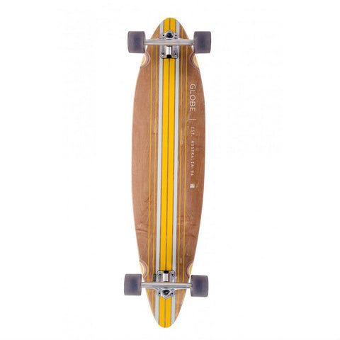 "GLOBE PINNER 41.25"" COMPLETE BROWN/YELLOW - Skateboards Amsterdam - 1"