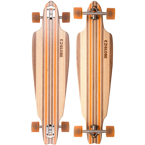 "GLOBE PROWLER V-PLY 38.5"" COMPLETE NATURAL/ORANGE - Skateboards Amsterdam"