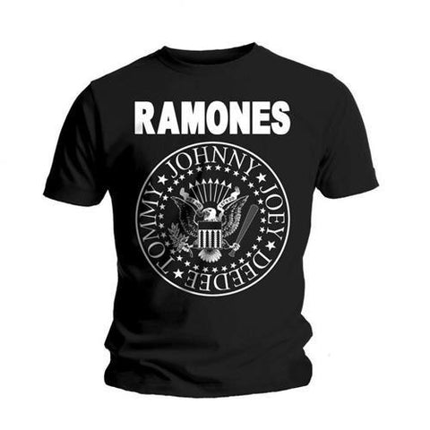 RAMONES PRESIDENTIAL SEAL T-SHIRT BLACK - Skateboards Amsterdam - 1