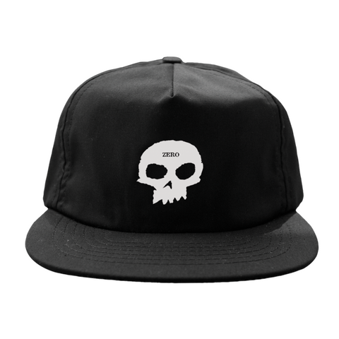 ZERO SINGLE SKULL HAT BLACK/WHITE