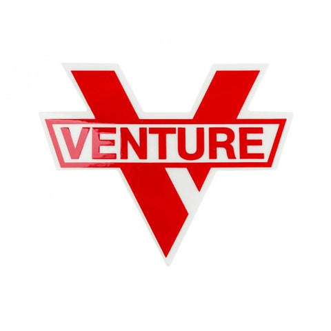 VENTURE BAR DIE CUT STICKER RED M - Skateboards Amsterdam