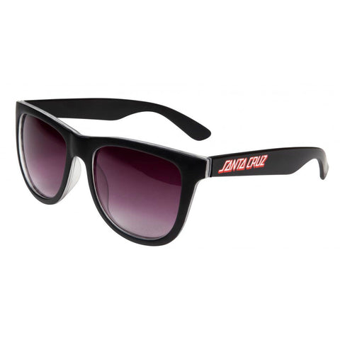 SANTA CRUZ CHECK STRIP SUNGLASSES BLACK
