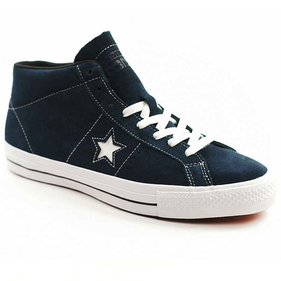 52289dd059d1 CONVERSE ONE STAR PRO SUEDE MID NAVY WHITE BLACK – Skateboards Amsterdam