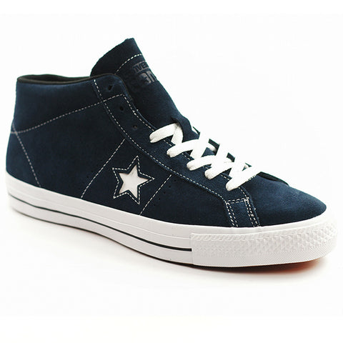 CONVERSE ONE STAR PRO SUEDE MID NAVY/WHITE/BLACK