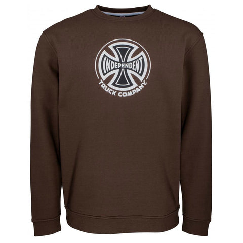 INDEPENDENT TRUCK CO. CREWNECK SWEATSHIRT CHOCOLATE