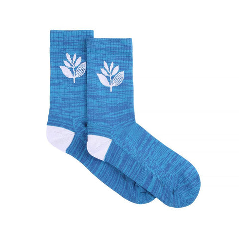 MAGENTA PLANT SOCKS BLUE HEATHER/OFF WHITE
