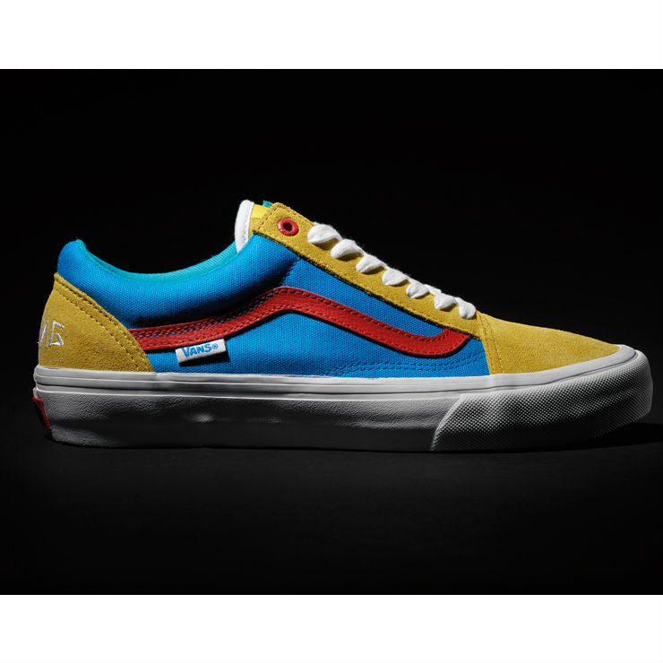 0c58ea7aa4d344 VANS OLD SKOOL PRO (GOLF WANG)YELLOW BLUE RED – Skateboards Amsterdam