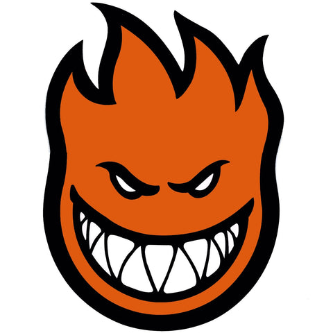 SPITFIRE FIREBALL STICKER ORANGE LARGE