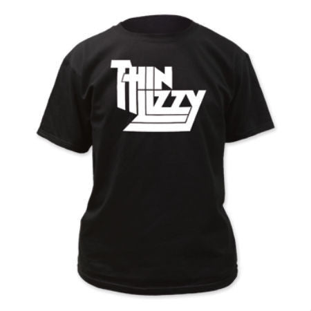 THIN LIZZY LOGO T-SHIRT BLACK - Skateboards Amsterdam - 1