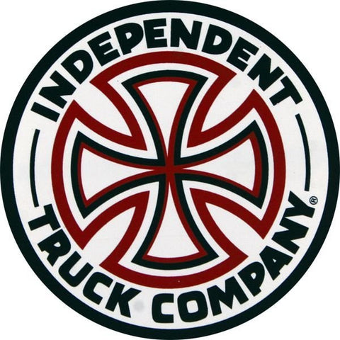 "INDEPENDENT RED/WHITE CROSS STICKER 3"" - Skateboards Amsterdam"