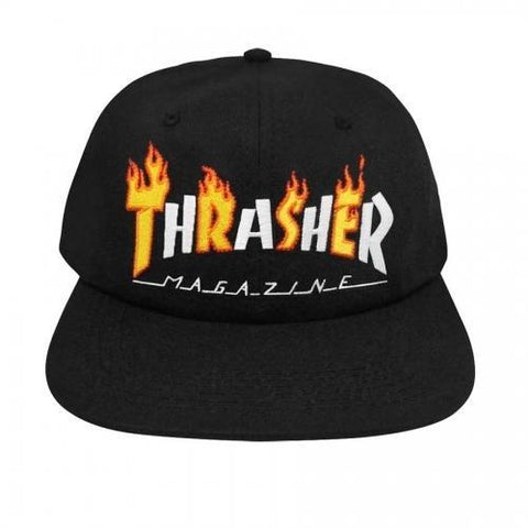 THRASHER FLAME MAG SNAPBACK BLACK
