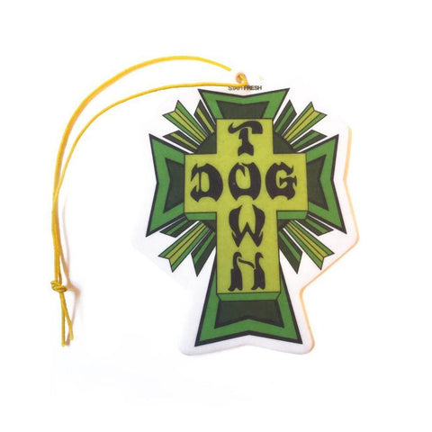 DOGTOWN AIR FRESHENER CROSS LOGO GREEN