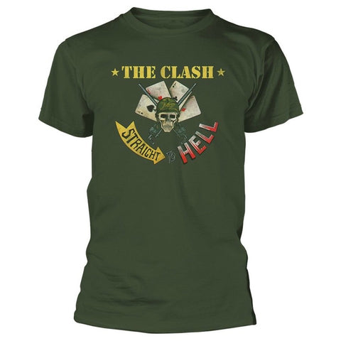 CLASH STRAIGHT ACES T-SHIRT MILITARY GREEN