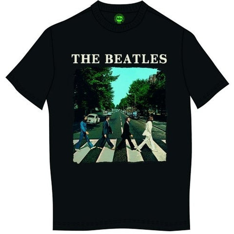 BEATLES ABBEY ROAD & LOGO T-SHIRT BLACK - Skateboards Amsterdam