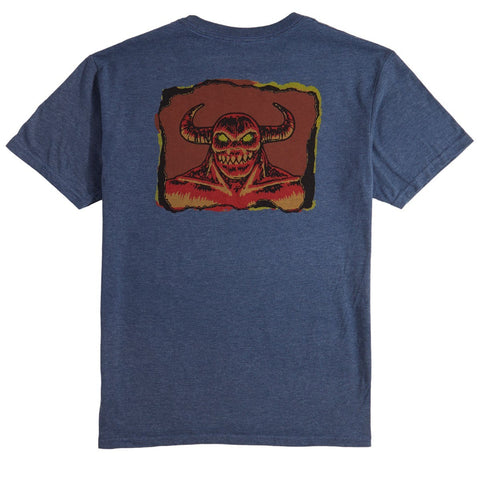 TOY MACHINE HELL MONSTER T-SHIRT HEATHER NAVY