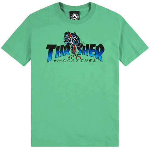 THRASHER LEOPARD MAG T-SHIRT MINT