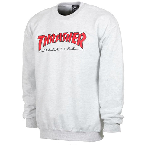 THRASHER OUTLINED CREWNECK ASH GREY