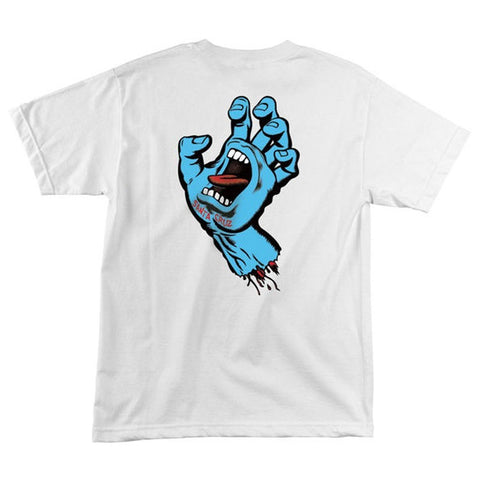 SANTA CRUZ SCREAMING HAND T-SHIRT WHITE - Skateboards Amsterdam