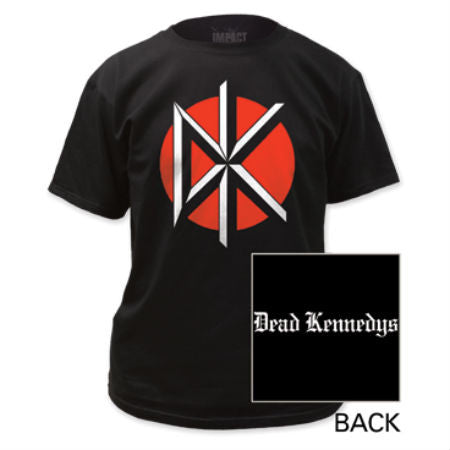 DEAD KENNEDYS LOGO W/BACK PRINT BLACK T-SHIRT - Skateboards Amsterdam