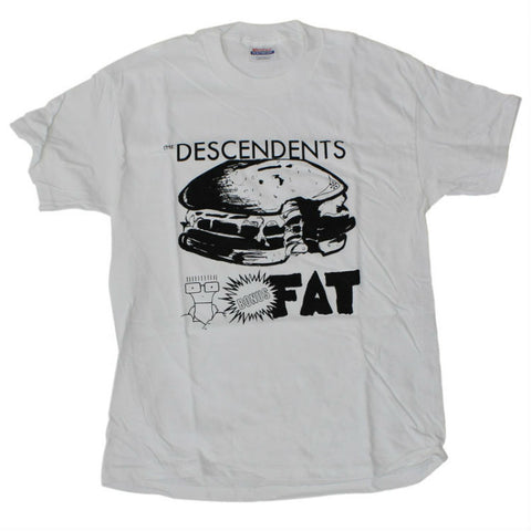 DESCENDENTS BONUS FAT T-SHIRT WHITE - Skateboards Amsterdam