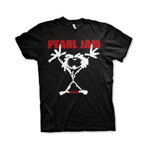 PEARL JAM STICKMAN T-SHIRT BLACK