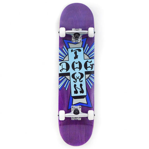 DOGTOWN BLUE CROSS LOGO PURPLE STAIN COMPLETE 7.75