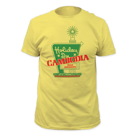 DEAD KENNEDYS HOLIDAY IN CAMBODIA T-SHIRT BANANA - Skateboards Amsterdam - 1