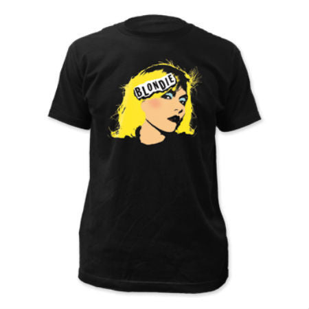 BLONDIE FACE FITTED T-SHIRT BLACK - Skateboards Amsterdam - 1