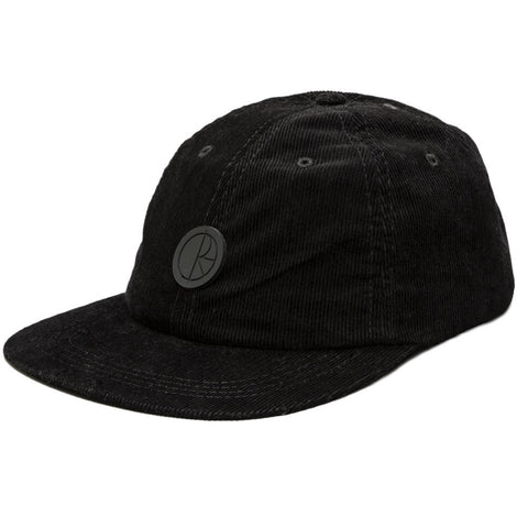 POLAR CORDUROY CAP BLACK - Skateboards Amsterdam