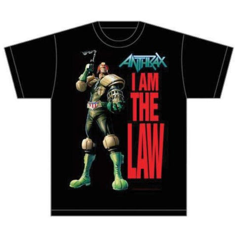 ANTHRAX I AM THE LAW T-SHIRT BLACK - Skateboards Amsterdam