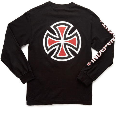 INDEPENDENT BAR CROSS LONG SLEEVE BLACK