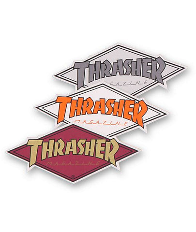 THRASHER STICKER DIAMOND LOGO MEDIUM
