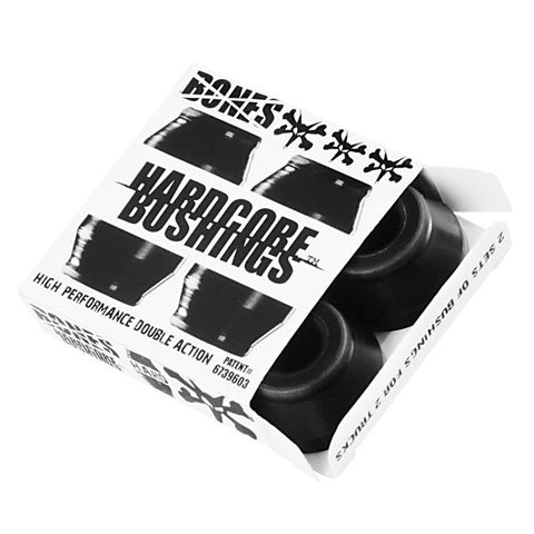 BONES HARDCORE BUSHINGS HARD BLACK 96A - Skateboards Amsterdam