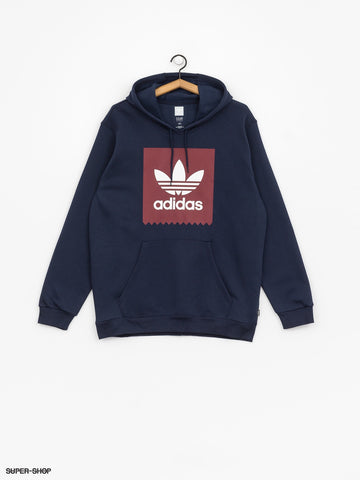 ADIDAS SOLID BB HOODED SWEATER COLLEGIATE NAVY/BURGUNDY/WHITE