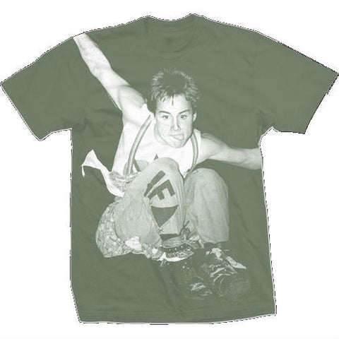ED COLVER JFA PUNK T-SHIRT GREEN - Skateboards Amsterdam