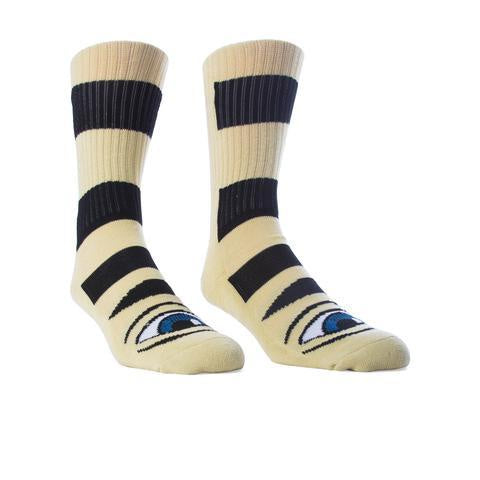 TOY MACHINE SECT EYE BIG STRIPE SOCK CAMEL