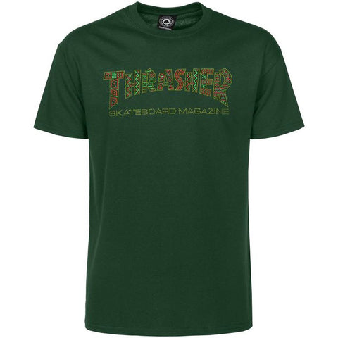 THRASHER DAVIS T-SHIRT FOREST GREEN