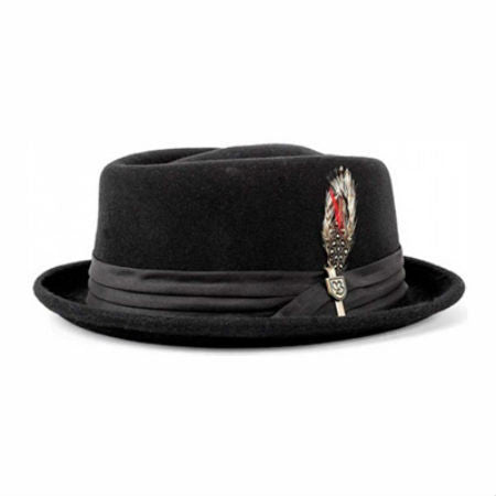 BRIXTON STOUT PORK PIE HAT BLACK/BLACK - Skateboards Amsterdam