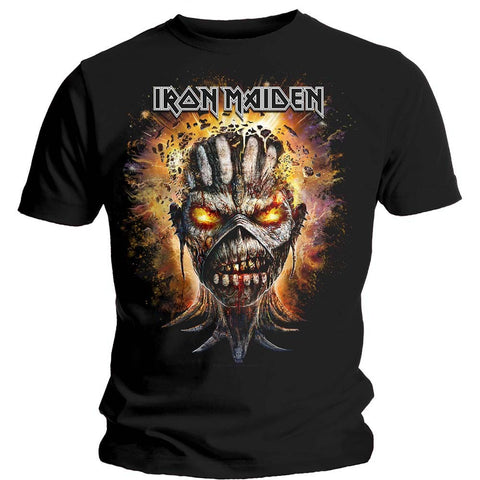 IRON MAIDEN EDDIE EXPLODING HEAD T-SHIRT BLACK - Skateboards Amsterdam