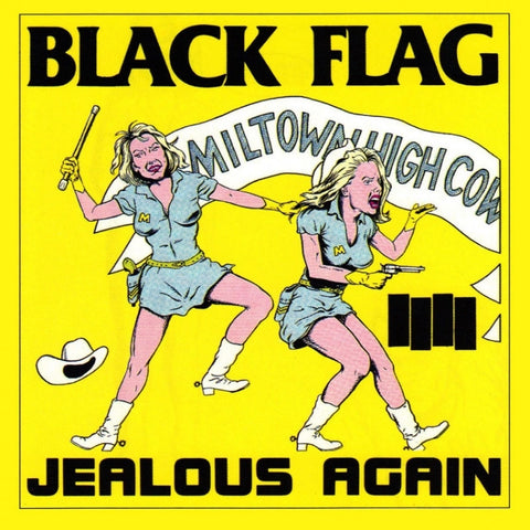 BLACK FLAG JEALOUS AGAIN STICKER - Skateboards Amsterdam