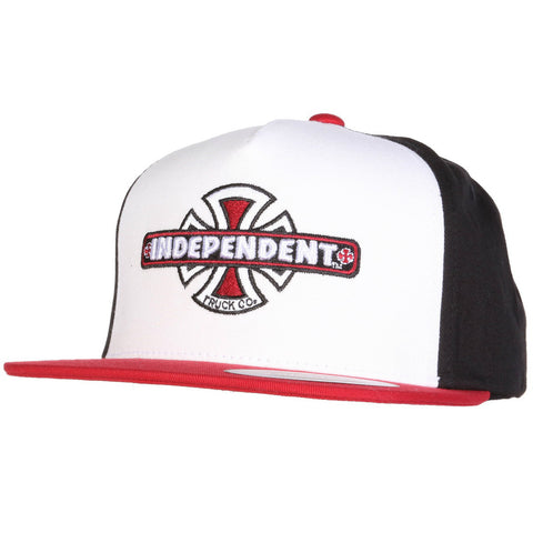 INDEPENDENT VINTAGE BC SNAPBACK RED/BLACK/WHITE - Skateboards Amsterdam