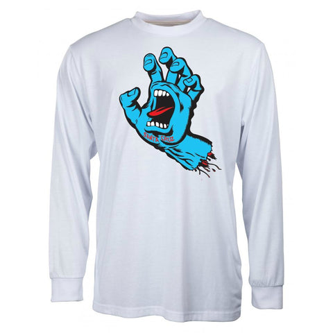 SANTA CRUZ SCREAMING HAND LONG SLEEVE WHITE