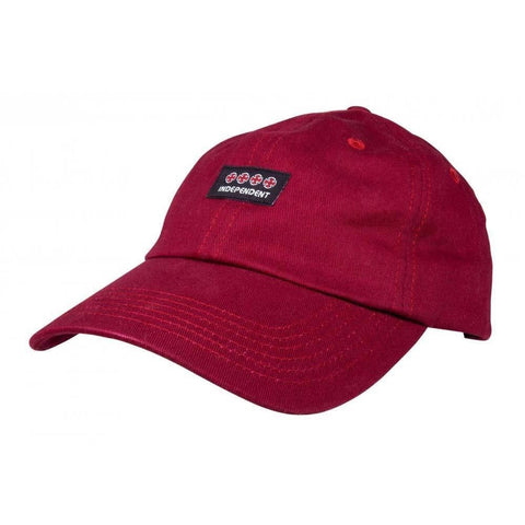 INDEPENDENT MANNER CAP BURGUNDY